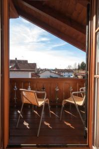 Ein Balkon oder eine Terrasse in der Unterkunft Hotel garni Sterff