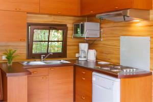 A kitchen or kitchenette at Disney's Davy Crockett Ranch