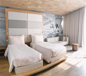 フュージョン スイーツ サイゴンにあるベッド