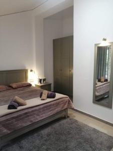 Кровать или кровати в номере Holiday and Business Home 1.2.3