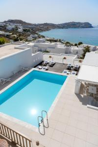 A view of the pool at Lithos by Spyros & Flora or nearby