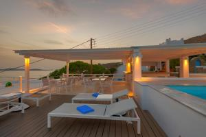 The swimming pool at or near Lithos by Spyros & Flora