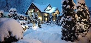 Дом в Славенке during the winter