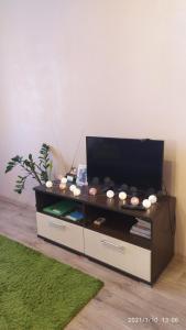 A television and/or entertainment center at Bondareva Street Apartment