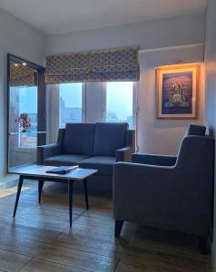 A seating area at VIA VARANASI-A Boutique Hotel