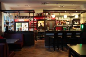 The lounge or bar area at Penzion Mova