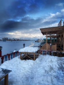 Chicago Group of Houseboats during the winter