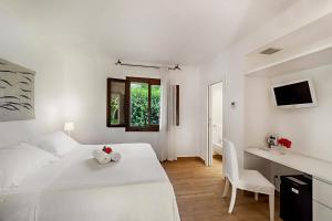 TV o dispositivi per l'intrattenimento presso Hotel Villa Mediterranea