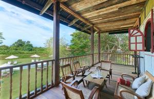 A balcony or terrace at Temple Tree Resort