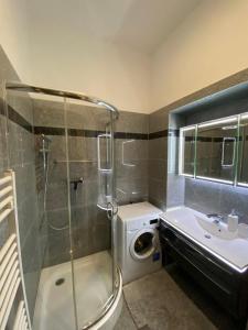 Koupelna v ubytování New cozy Apartment, Top location, 12 min to center