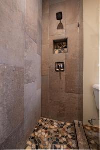 A bathroom at Cowboy Village Resort
