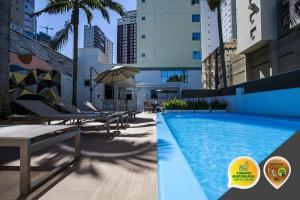 The swimming pool at or close to Santa Inn Hotel