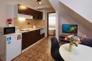 Кухня или мини-кухня в Feniks Apartments