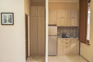 A kitchen or kitchenette at Borjomi Cottages