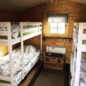 A bunk bed or bunk beds in a room at Hekla Nordicabin - Wild Cottage