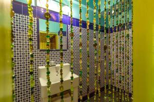 A bathroom at Hotel Bazar