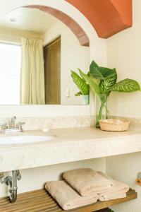 A bathroom at Suites Parador Santo Domingo de G.