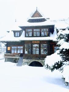 Hostel Stara Polana during the winter