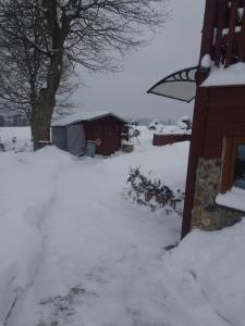 penzion Horni Blatna during the winter