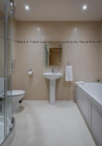 A bathroom at Westville Apartments