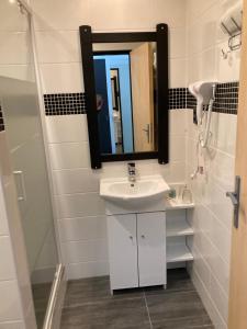 Koupelna v ubytování Penzion Grasel