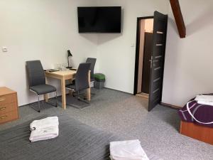 TV a/nebo společenská místnost v ubytování Penzion Grasel