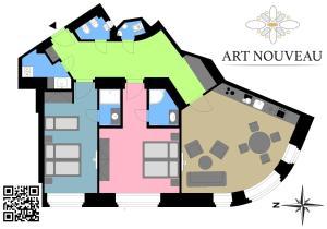 The floor plan of Art-Nouveau