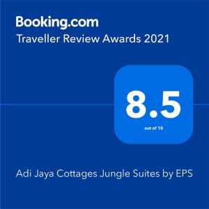 Adi Jaya Cottages Jungle Suites by EPSに飾ってある許可証、賞状、看板またはその他の書類