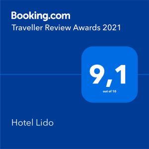 Certificato, attestato, insegna o altro documento esposto da Hotel Lido