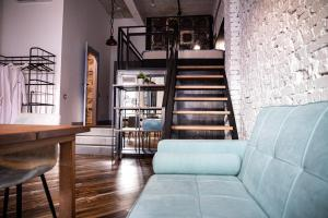 A seating area at Fabrika Hotel