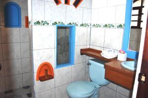 Salle de bains dans l'établissement Hostería Chukirawa