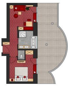 Grundriss der Unterkunft Hotel Jägerhof