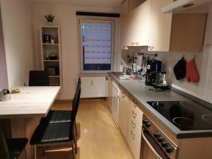 Küche/Küchenzeile in der Unterkunft Vor den Toren Dresdens