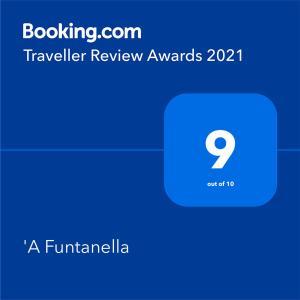 Certificat, récompense, panneau ou autre document affiché dans l'établissement 'A Funtanella