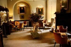 The lounge or bar area at Lumley Castle Hotel