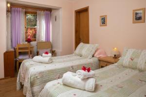 Una cama o camas en una habitación de Hosteria Katy