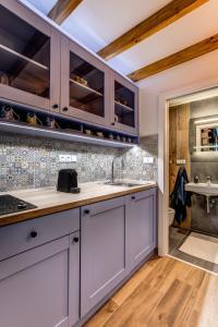 Kuchyň nebo kuchyňský kout v ubytování Mini apartmán Miró