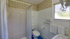 A bathroom at Binalong Motel