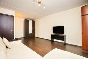 A television and/or entertainment center at Standard Brusnika Apartments Vykhino