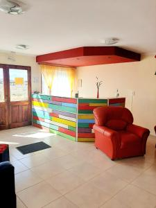 The lobby or reception area at Matices Hostel