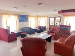 The lounge or bar area at Matices Hostel