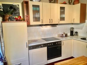 Een keuken of kitchenette bij Landgoed Hoeve Honeswei