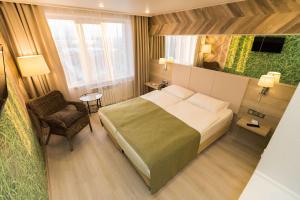 Кровать или кровати в номере Гостиница Двина