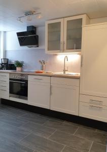 Küche/Küchenzeile in der Unterkunft Ferienwohnung Bergluft