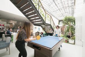 A billiards table at Lisbon Destination