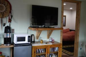 A television and/or entertainment center at Five Peaks