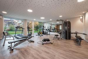 Das Fitnesscenter und/oder die Fitnesseinrichtungen in der Unterkunft Baumgartner's Blumenhotel