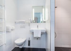 A bathroom at Hotel Restaurant Solskin