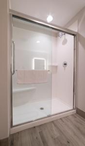 A bathroom at Holiday Inn Express & Suites Panama City Beach - Beachfront, an IHG Hotel
