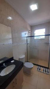 A bathroom at Residencial Ocean Palace